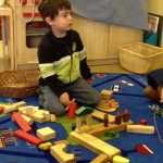 "Shorashim learner builds a Jewish house  ""for Moses"" with blocks"