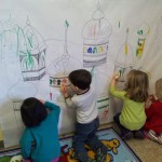 Decorating the castle and walls of Shushan