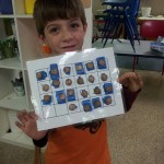 This first grader matched all of the אותיות (otiot--letters) and put them in aleph-bet order.