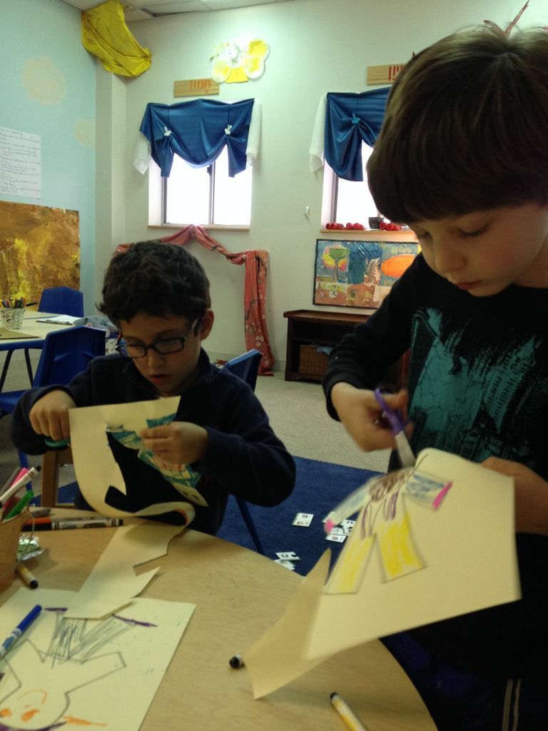 We made puppets so we could use them to act out the story!