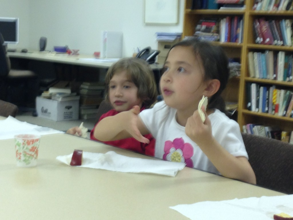Girl 1 and Boy 1 talking about the Mishnah