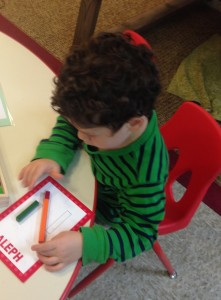 One shorashimer finds all of the letters in his שם (shem-name) and creates them from aleph bet shape sticks