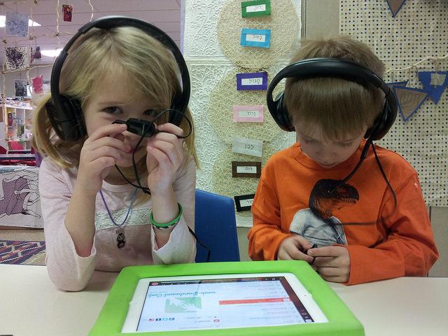 First graders listening to Exodus.