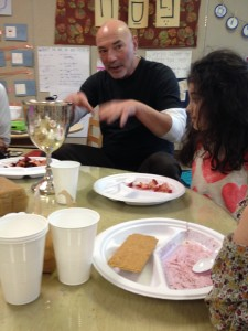 Mr. Eddie explains his family's pesach tradition.