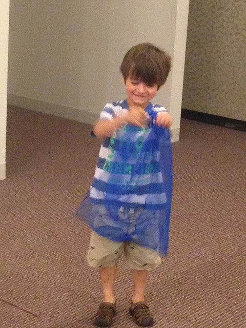 Using a dancing scarf while listening to Psalm 150 music to think about how our body feels.