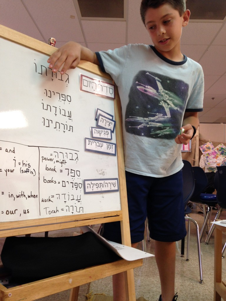 Explaining how a Hebrew word is constructed
